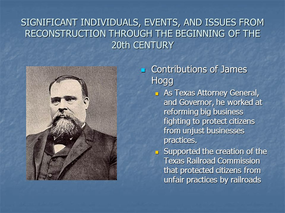 Contributions of James Hogg