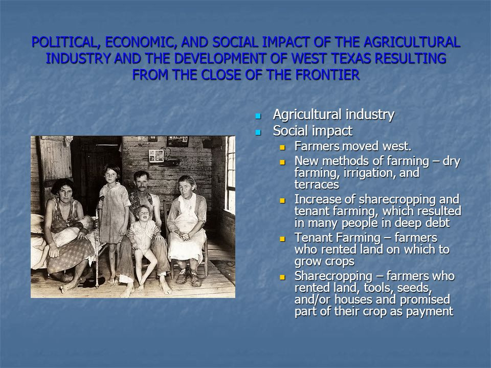 Agricultural industry Social impact