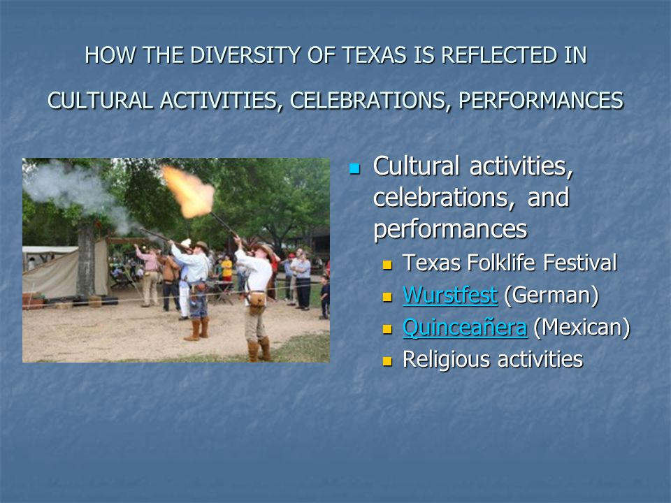 Cultural activities, celebrations, and performances