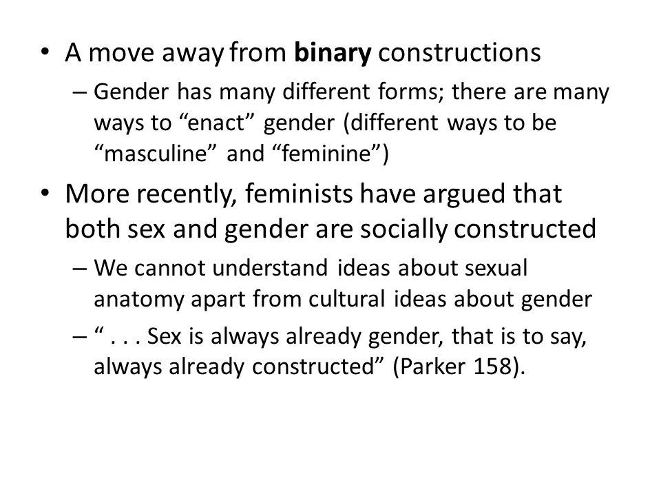 A move away from binary constructions