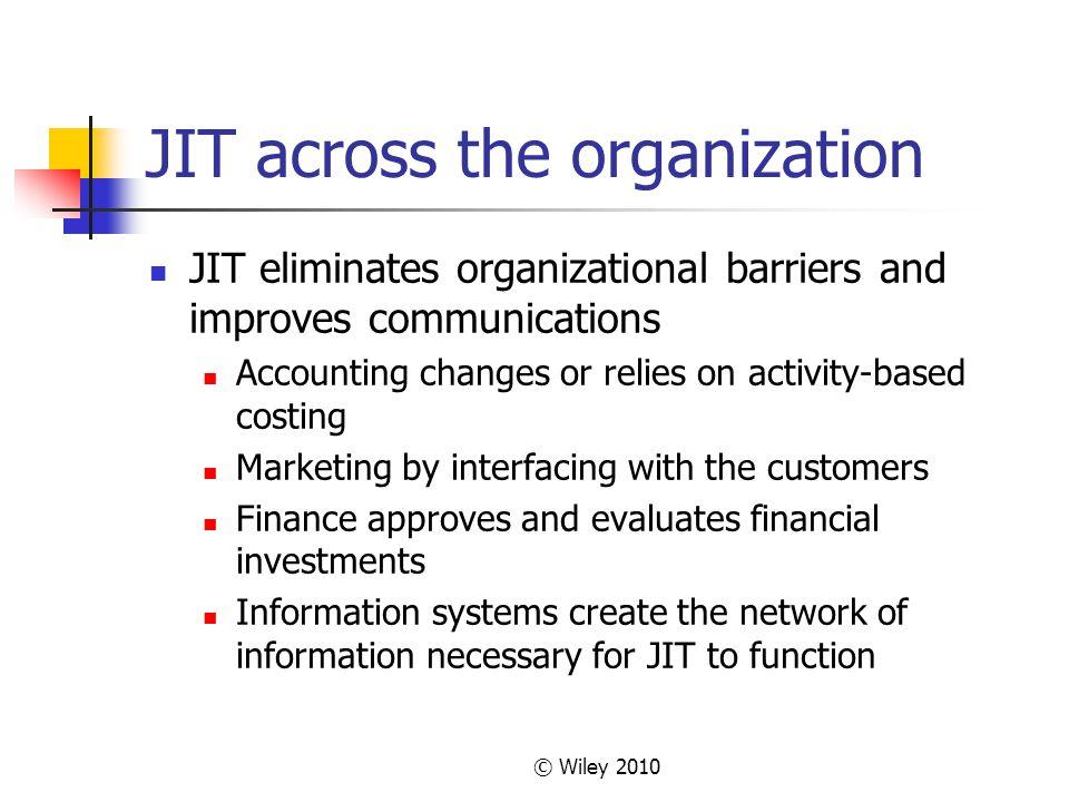 JIT across the organization