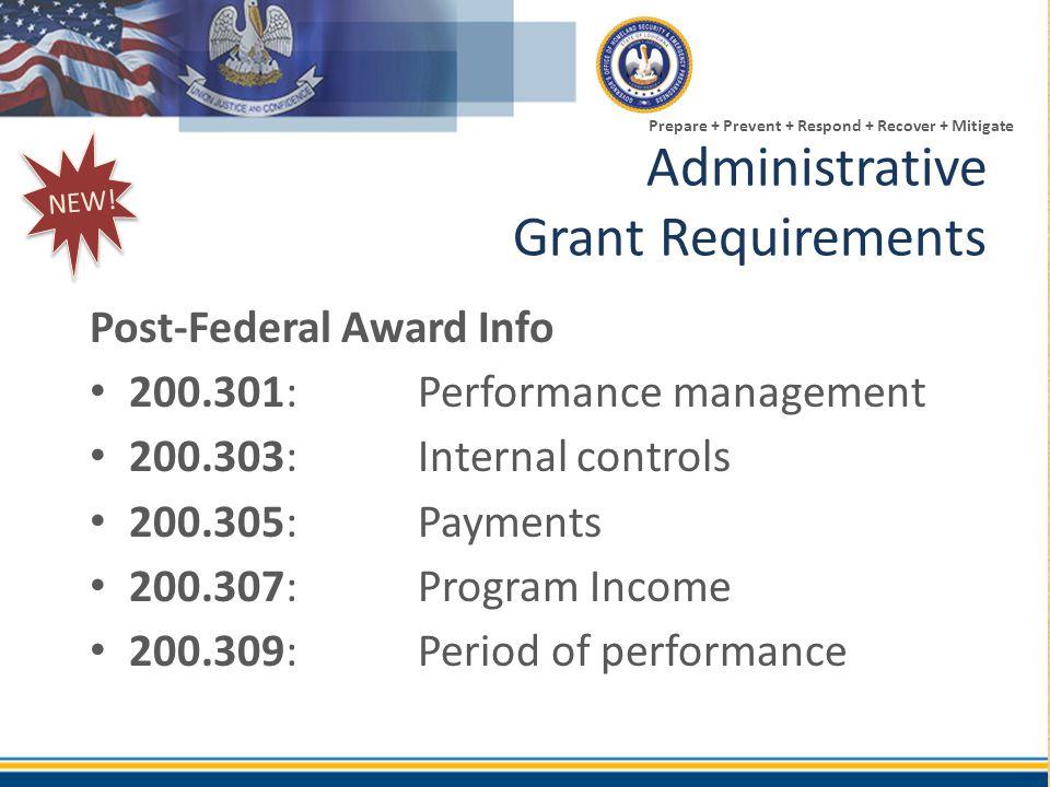 Administrative Grant Requirements