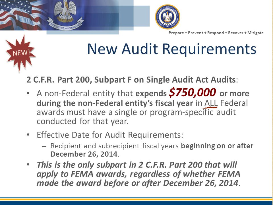 New Audit Requirements