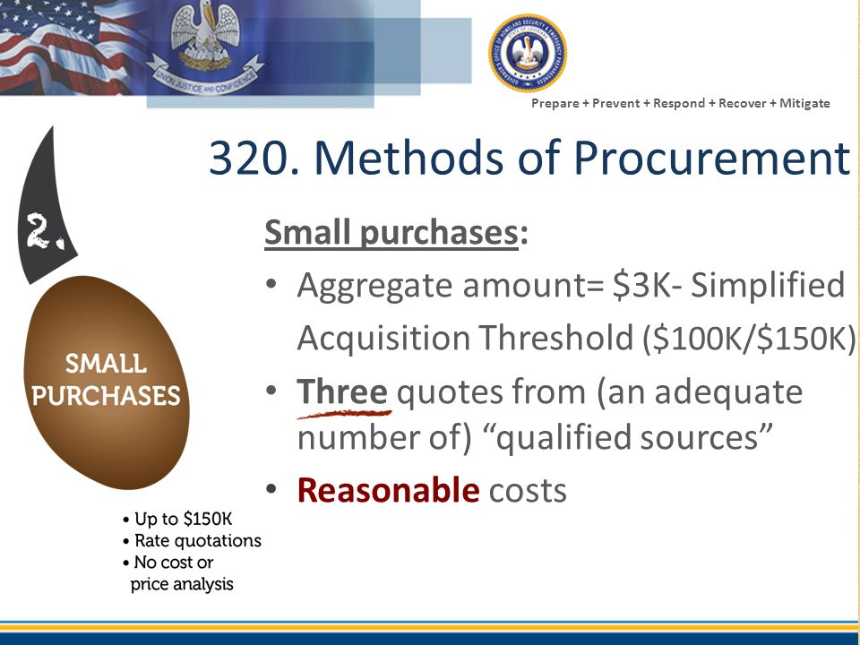 320. Methods of Procurement