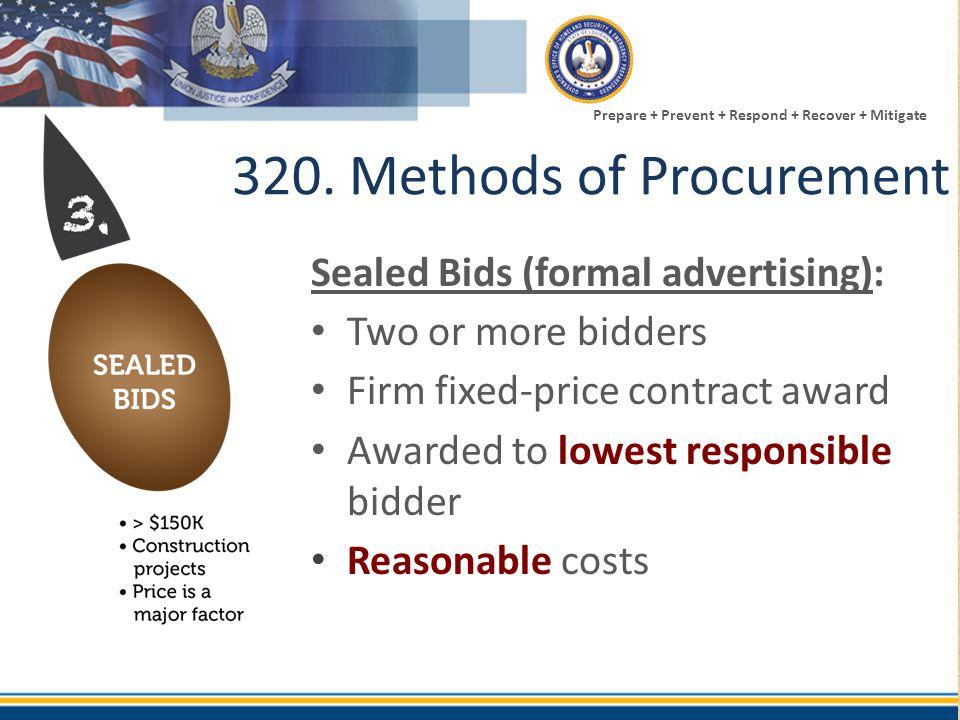 320. Methods of Procurement