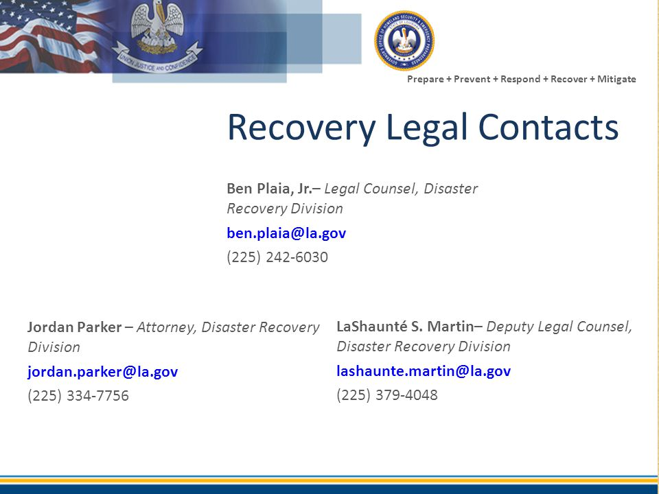 Recovery Legal Contacts