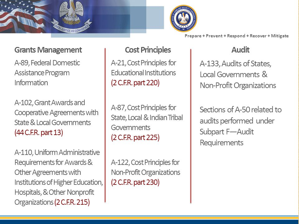A-133, Audits of States, Local Governments & Non-Profit Organizations