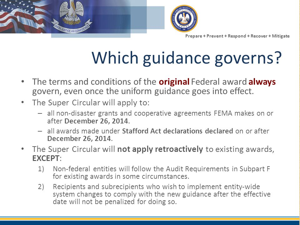 Which guidance governs