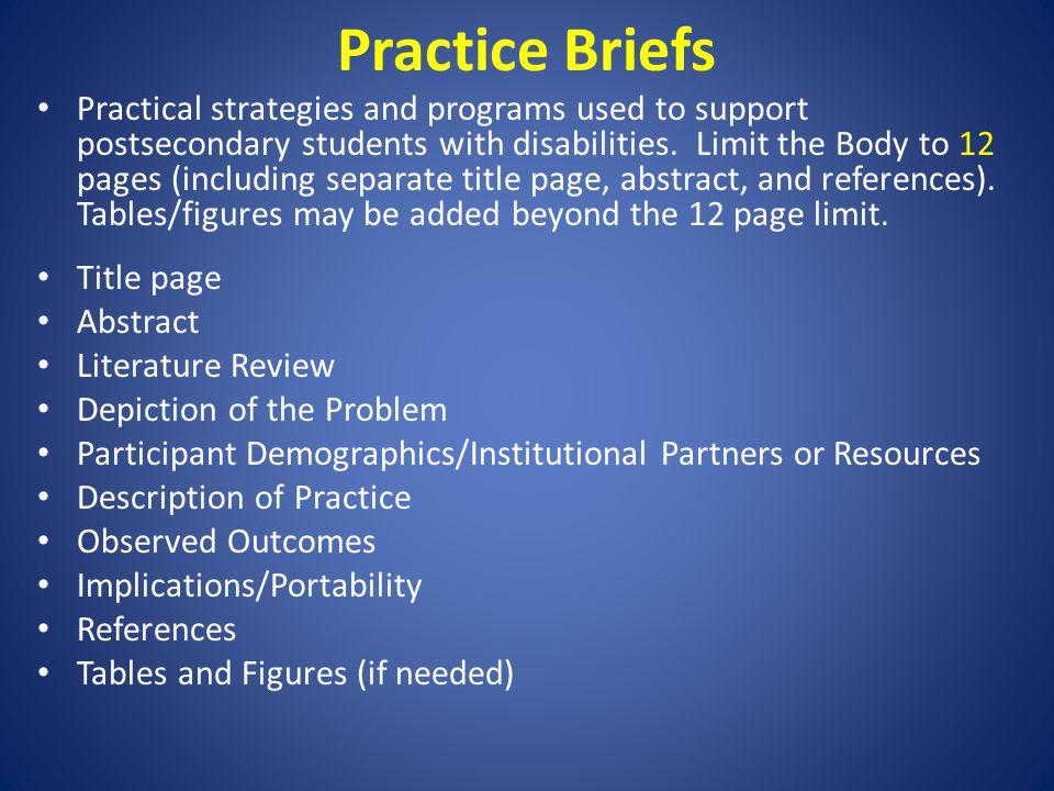 Practice Briefs