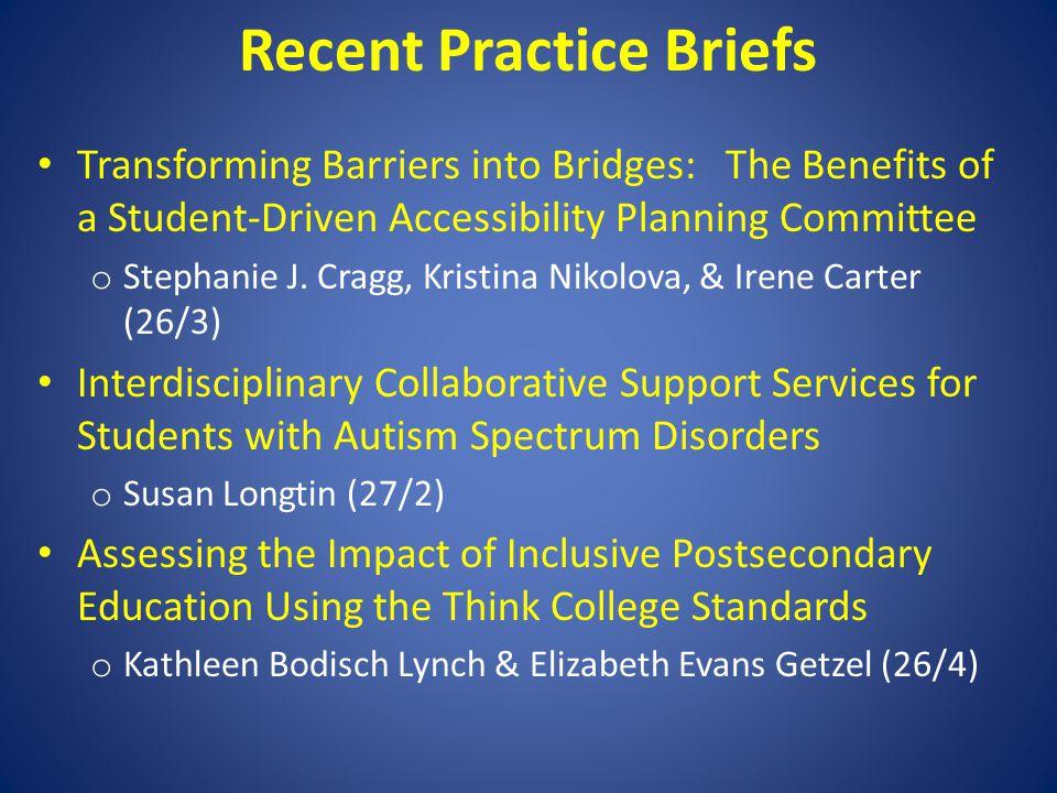 Recent Practice Briefs
