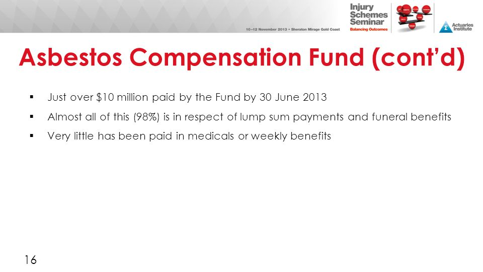 Asbestos Compensation Fund (cont'd)