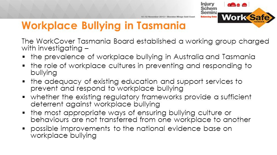Workplace Bullying in Tasmania