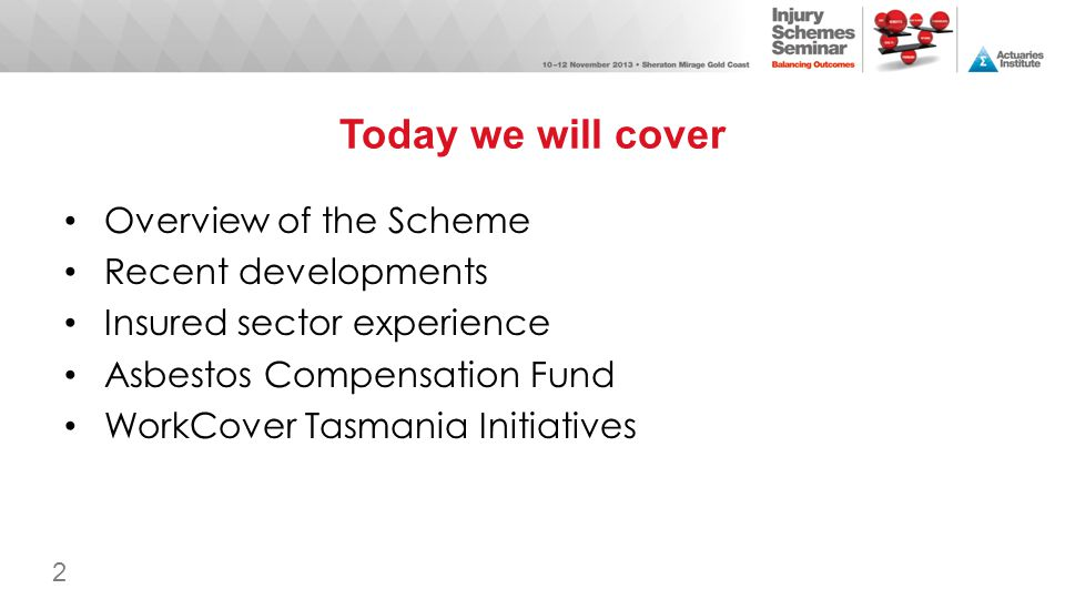 Today we will cover Overview of the Scheme Recent developments