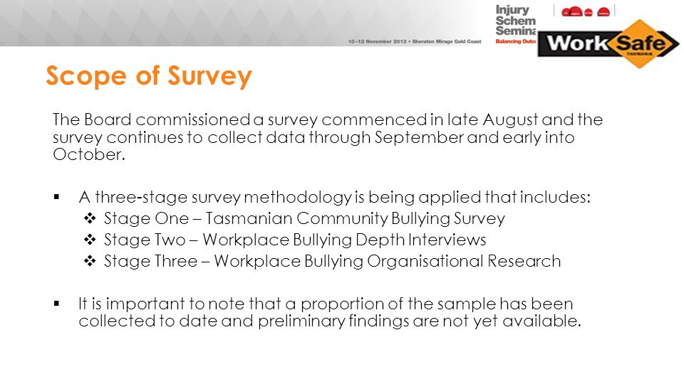 Scope of Survey