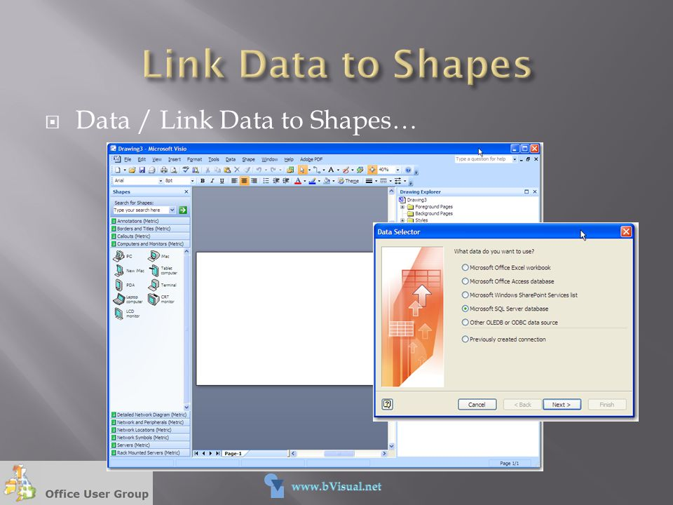 Link Data to Shapes Data / Link Data to Shapes…