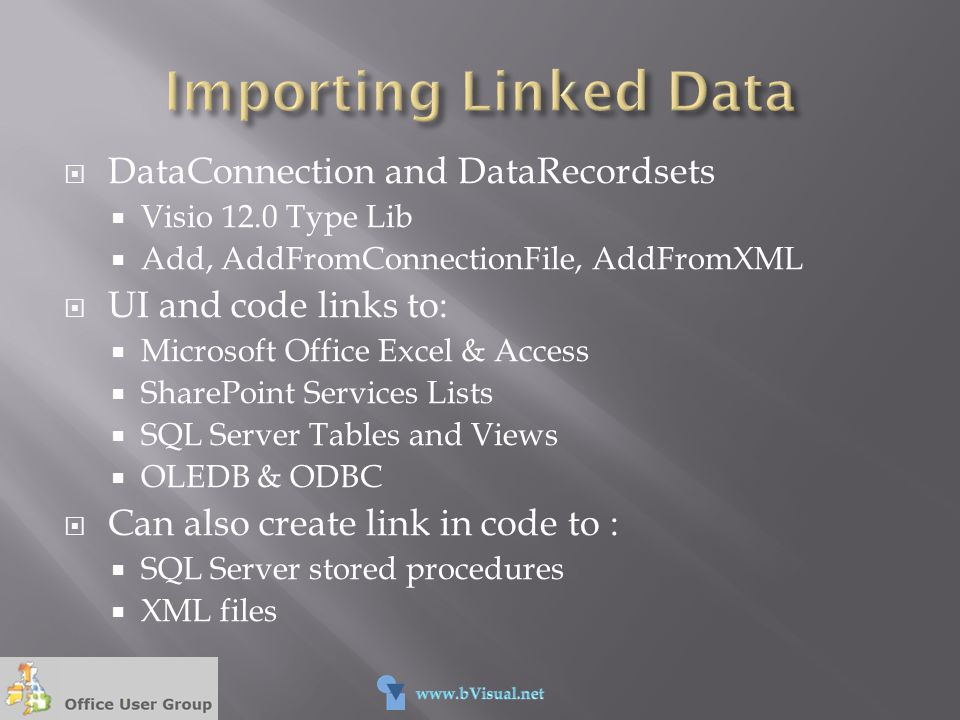 Importing Linked Data DataConnection and DataRecordsets