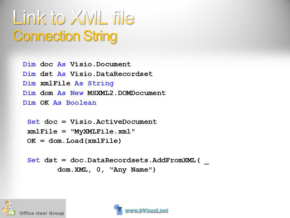 Link to XML file Connection String