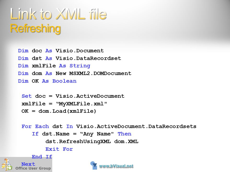 Link to XML file Refreshing