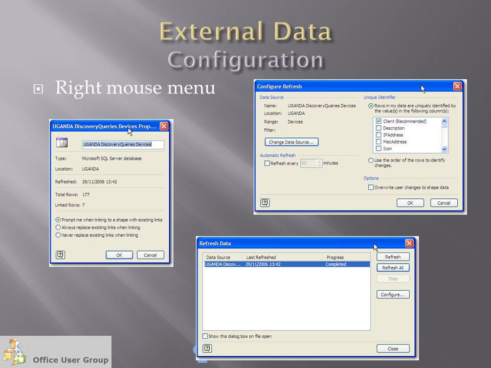 External Data Configuration