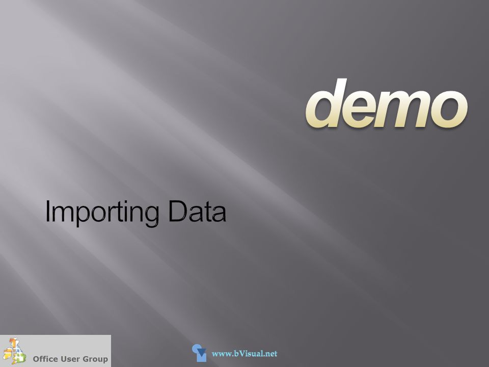 demo Importing Data 4/13/2017 5:55 PM Run code examples: