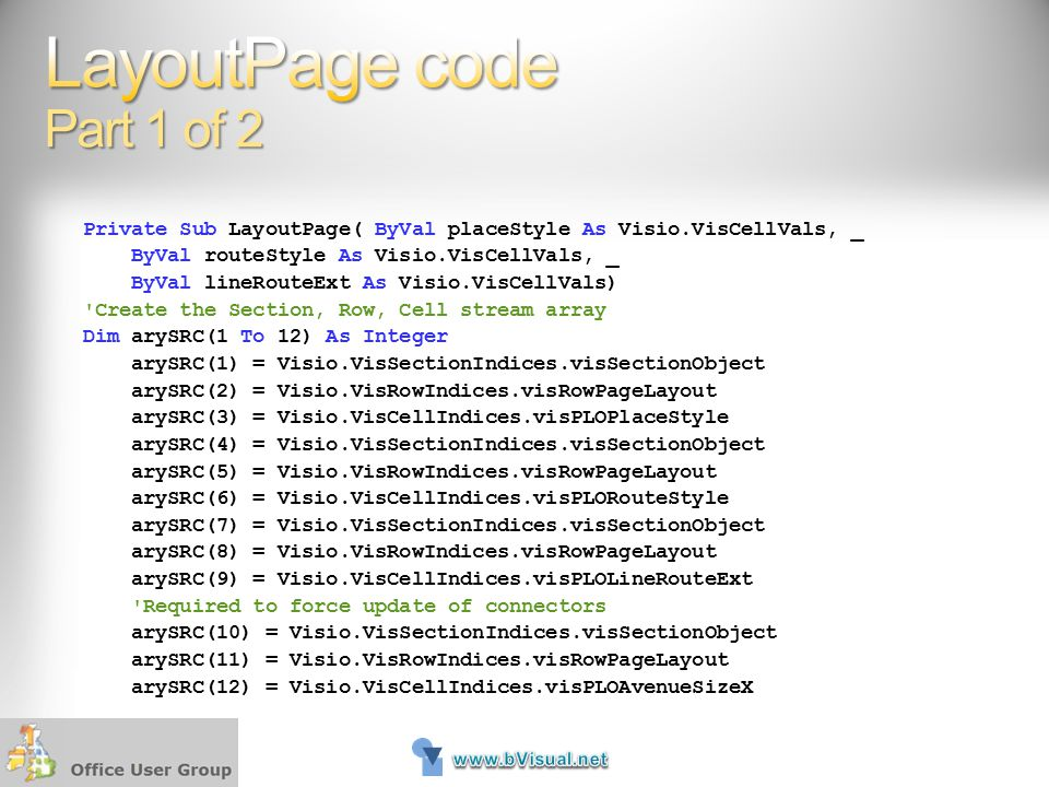 LayoutPage code Part 1 of 2