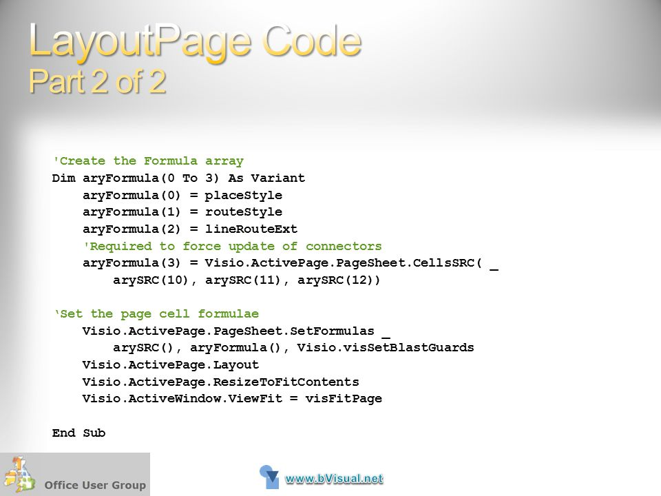 LayoutPage Code Part 2 of 2