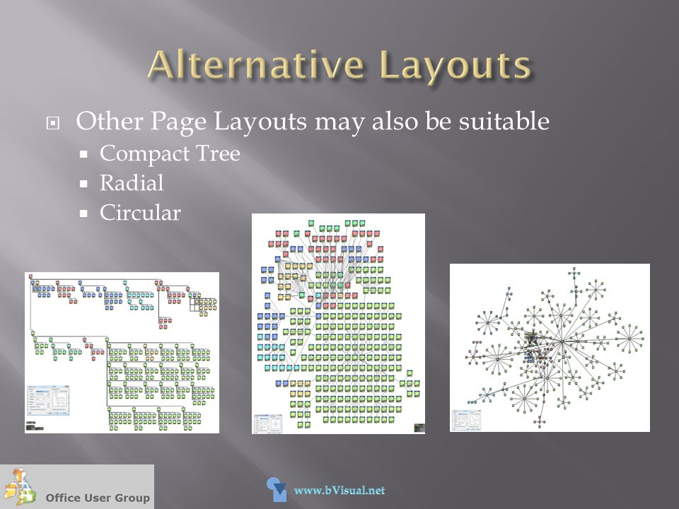 Alternative Layouts Other Page Layouts may also be suitable