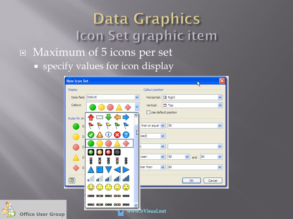 Data Graphics Icon Set graphic item