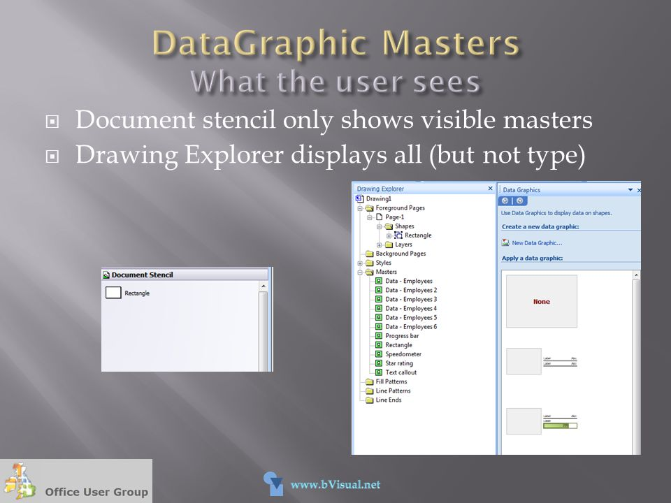 DataGraphic Masters What the user sees