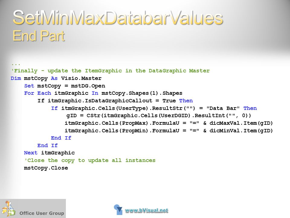 SetMinMaxDatabarValues End Part