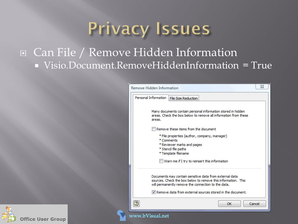 Privacy Issues Can File / Remove Hidden Information