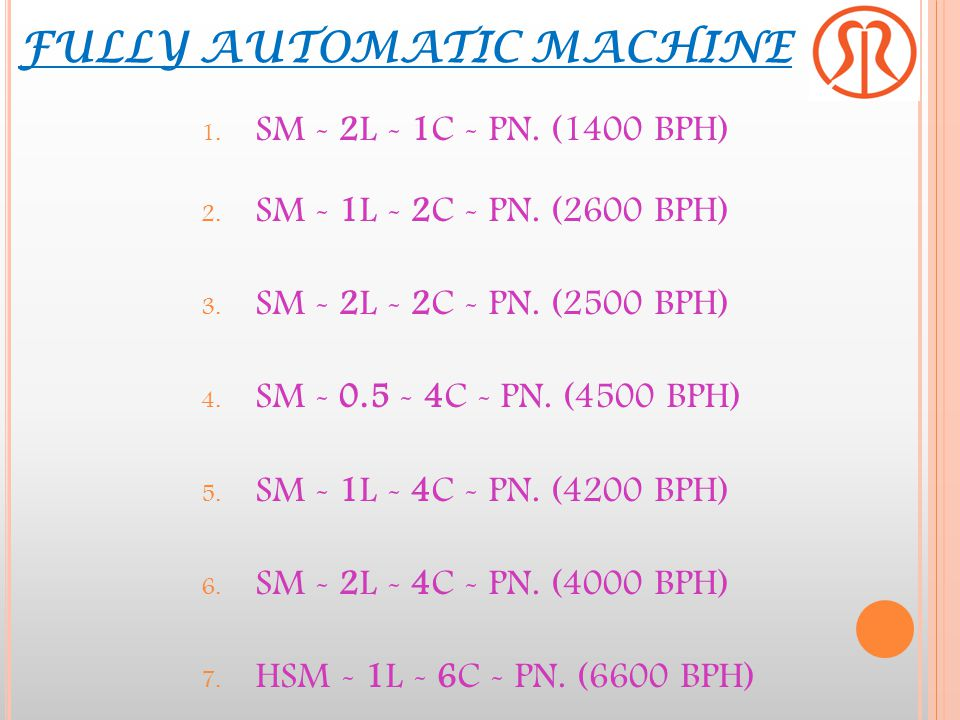 FULLY AUTOMATIC MACHINE