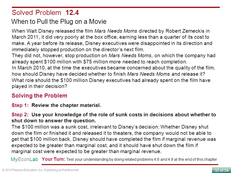 Solved Problem 12.4 When to Pull the Plug on a Movie