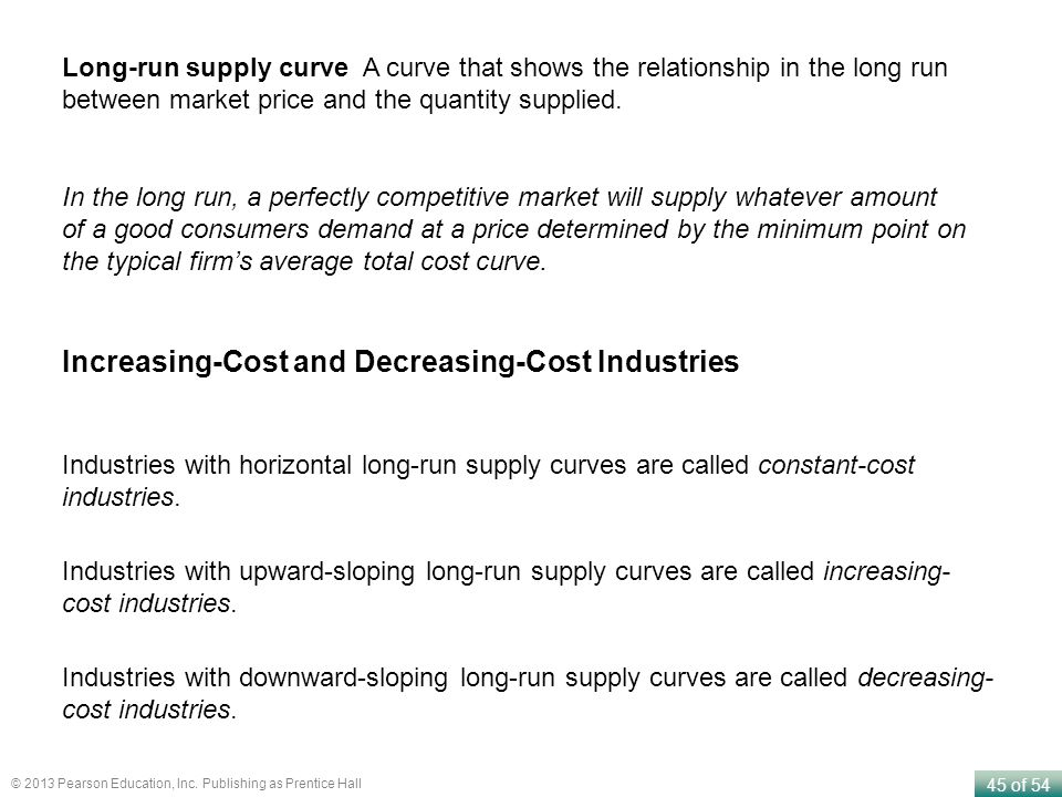 Increasing-Cost and Decreasing-Cost Industries