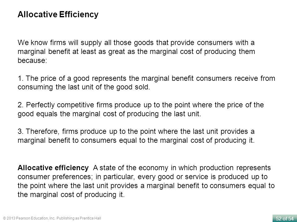 Allocative Efficiency