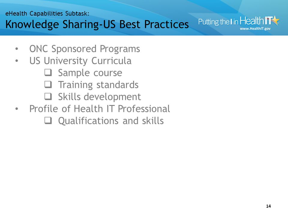 US Challenges and Gaps Curricula Training standards Skills development