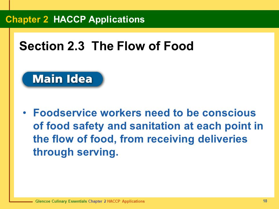 Section 2.3 The Flow of Food