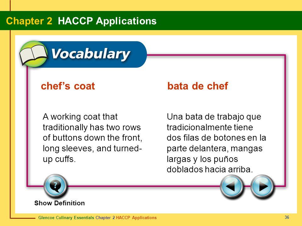 chef's coat bata de chef