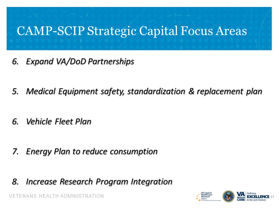 CAMP-SCIP Strategic Capital Focus Areas