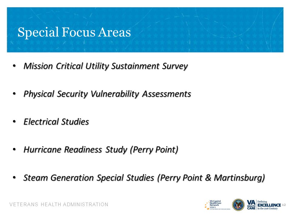 Special Focus Areas Mission Critical Utility Sustainment Survey