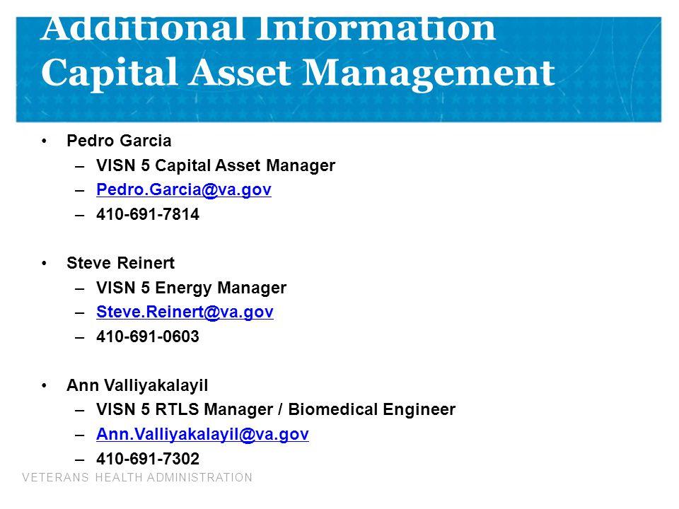 Additional Information Capital Asset Management