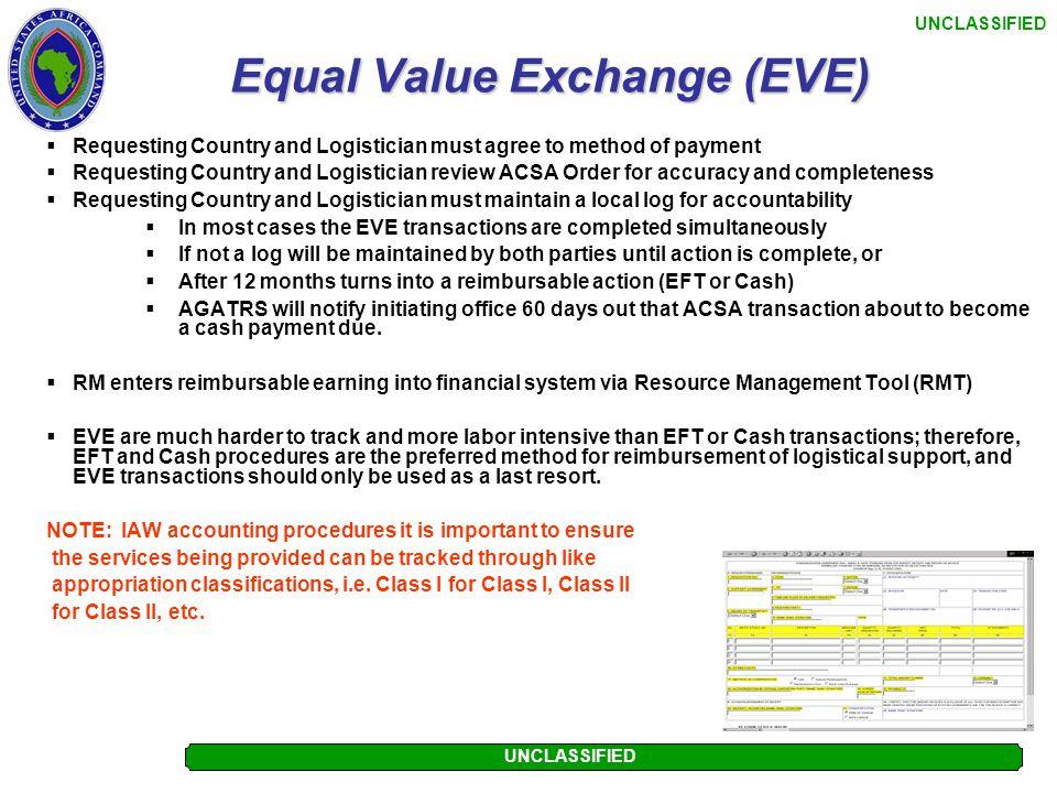 Equal Value Exchange (EVE)