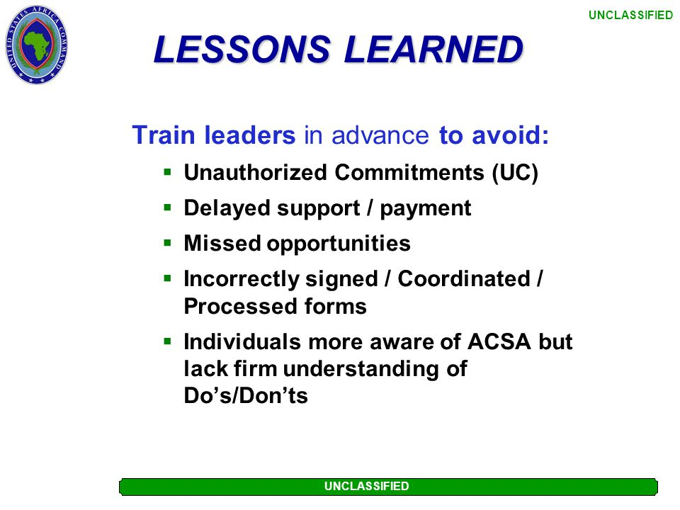 Train leaders in advance to avoid: