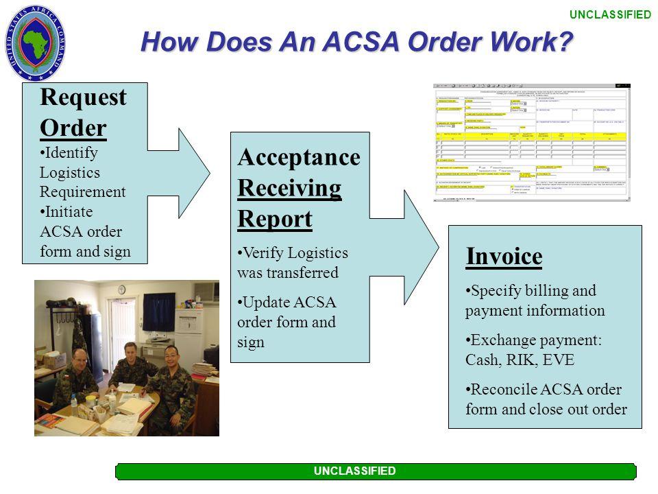 How Does An ACSA Order Work