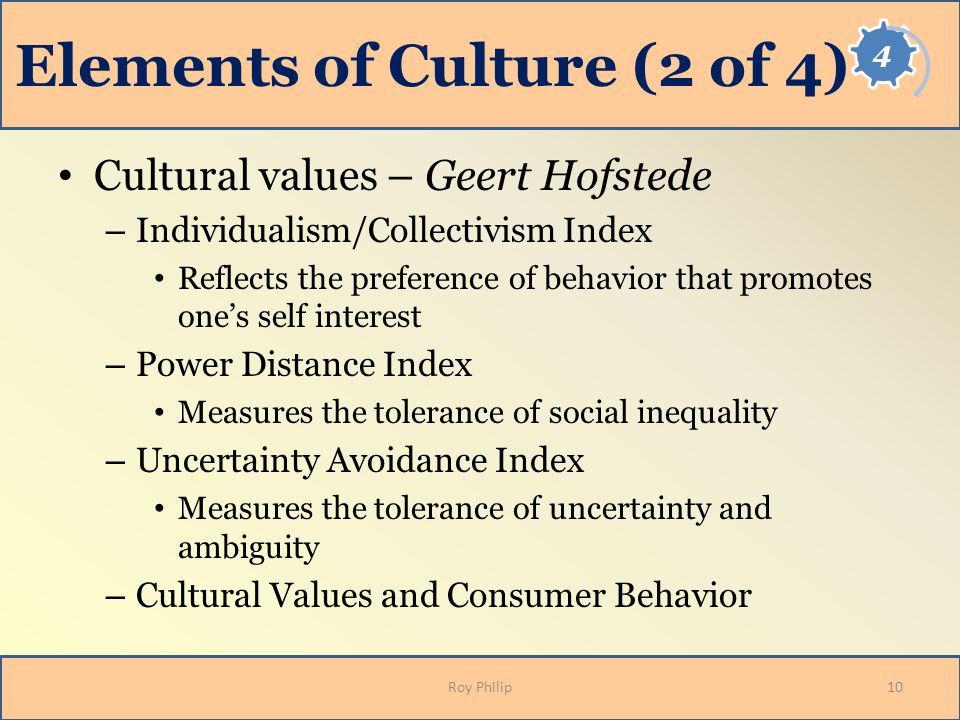 Elements of Culture (2 of 4)