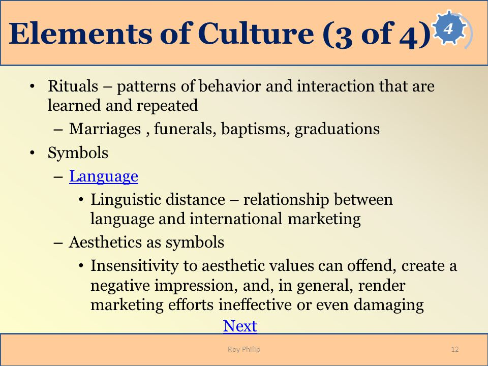 Elements of Culture (3 of 4)