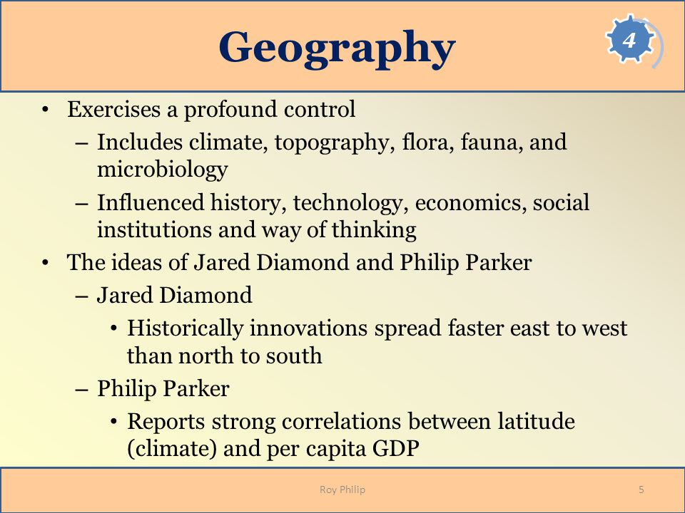 Geography Exercises a profound control