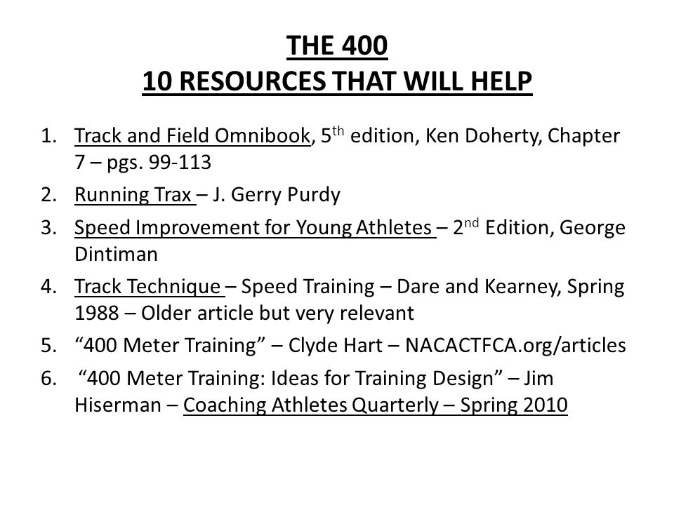 THE 400 10 RESOURCES THAT WILL HELP