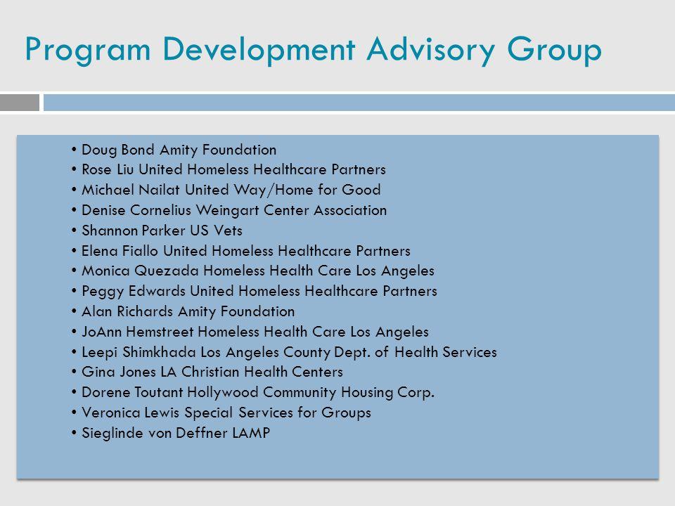 Program Development Advisory Group