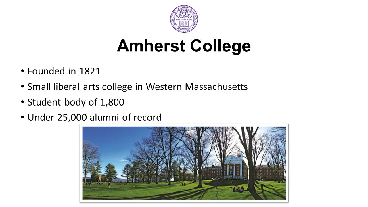 Amherst College Founded in 1821